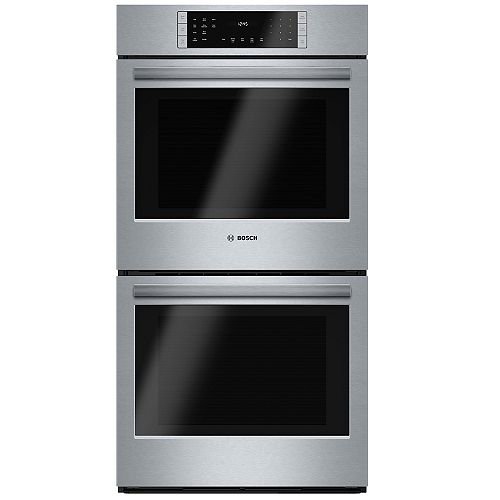 Bosch 800 Series 27-Inch Built-In Double Wall Oven with European Convection