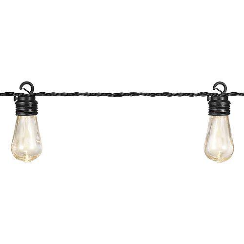 Guirlande lumineuse de jardin à DEL avec 10 ampoules vintage