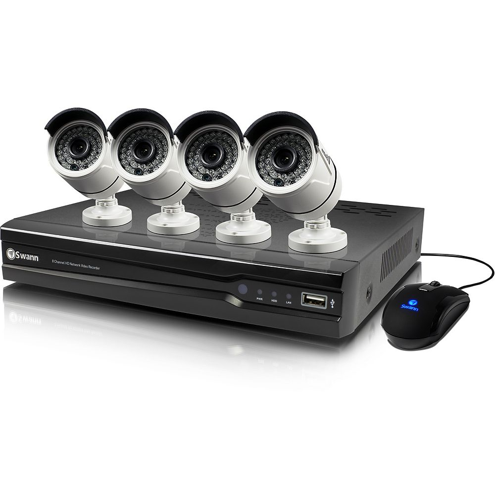 Swann 8 Channel 4MP 2TB NVR Security System With 4 Full HD 4MP Cams