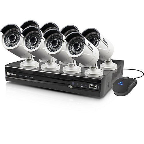8 Channel 4MP 2TB NVR Security System With 8 Full HD 4MP Cams