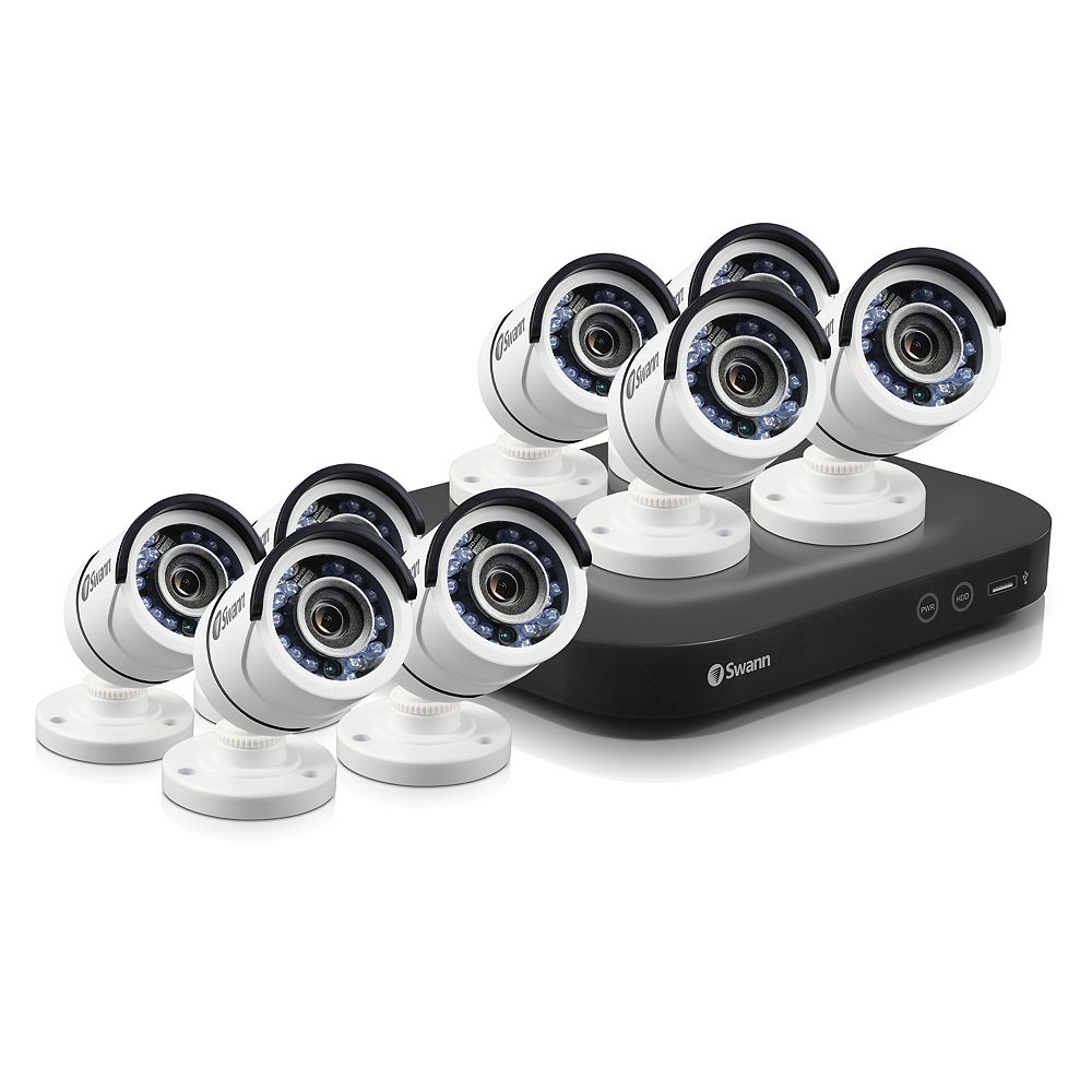 Swann 8 Channel 5MP 2TB DVR Security System With 8 PRO-T890 5MP Bullet Cameras