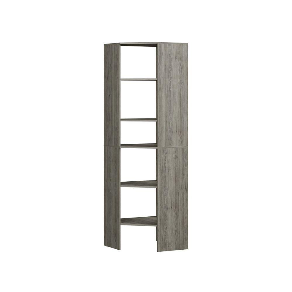 ClosetMaid Style+ Corner Floor Tower Coastal Teak