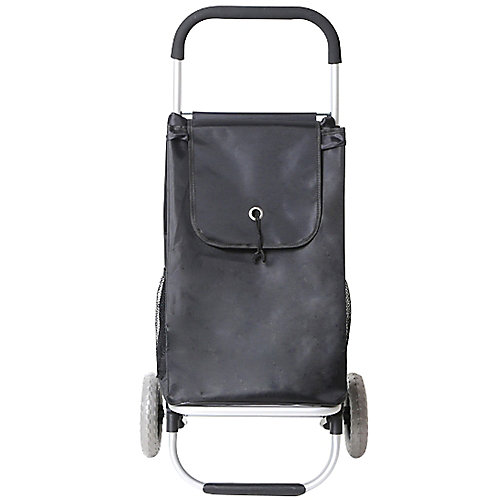 Pull-Behind Wheeled Shopping Cart in Grey