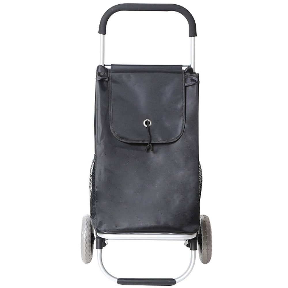 HDX Pull-Behind Wheeled Shopping Cart in Grey