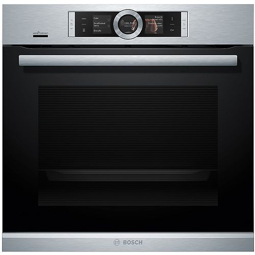 Bosch 500 Series 24-inch Single Electric Wall Oven with European Convection Self-Cleaning with Home Connect in Stainless Steel