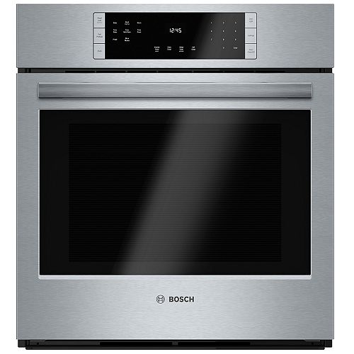 Bosch 800 Series 27-Inch Built-In Single Wall Oven with European Convection