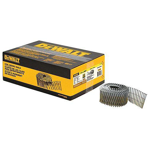 Clous pour queue de bobine en métal de 2 po x 0,090 po 3600 par boîte