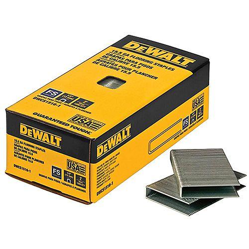 Agrafes pour planchers de bois franc en acier galvanisé de calibre 15-1/2 de 2 po x 1/2 po (7 728 par boîte)