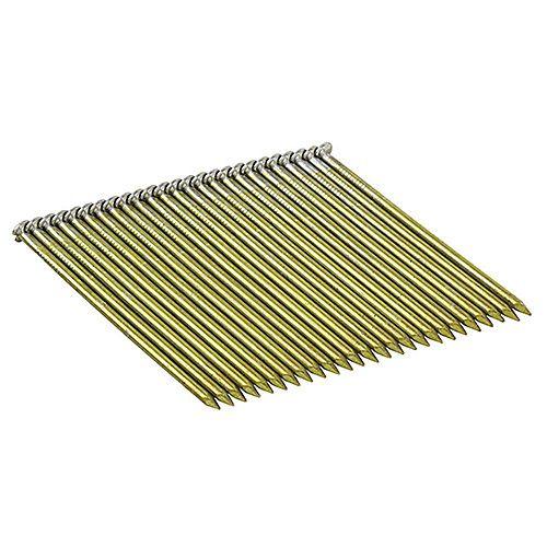 3-inch x 0.120-Gauge Wire Bright Steel Round-Head Framing Nails (2,000 per Box)
