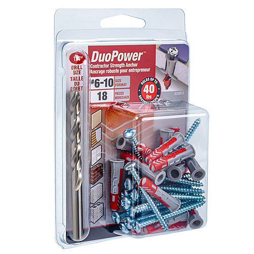 #6-10 DuoPower(TM) Contractor Strength Anchor - 18pcs