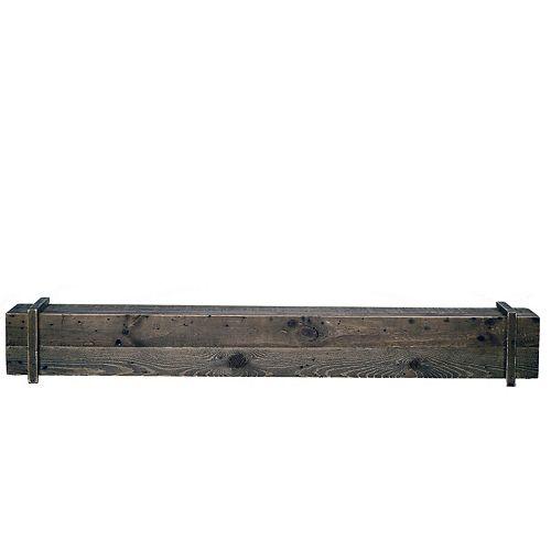 Elements Cavalli Rustic 45-inch x 6.3-inch Mantel Shelf