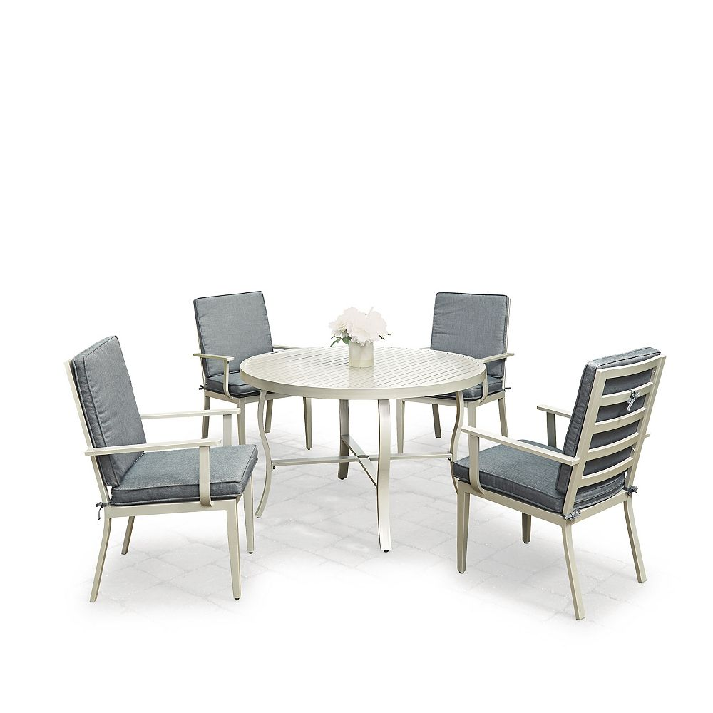 Homestyles South Beach 5-Piece Round Outdoor Dining Set
