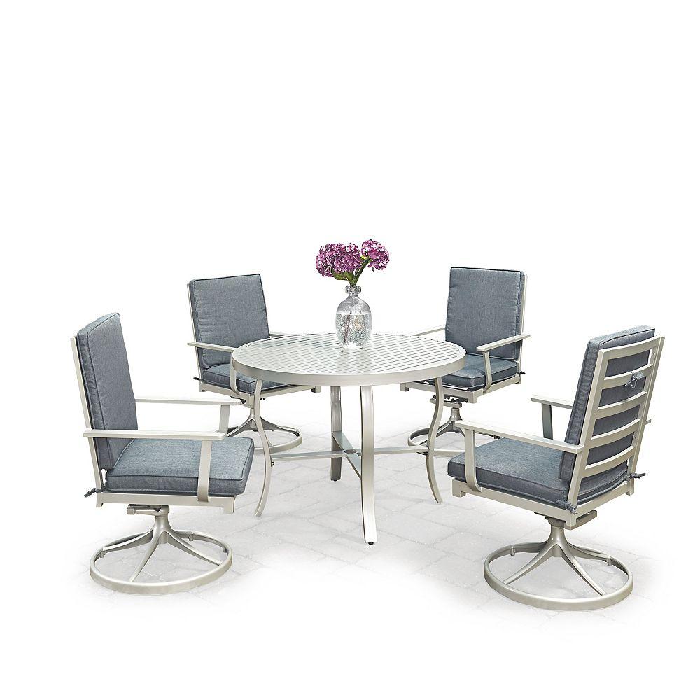 Homestyles South Beach 5 Pc. Table ronde de salle à manger et 4 fauteuils pivotants