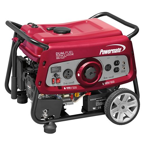 Dual Fuel 3500 Watt Portable Generator with Electric Start