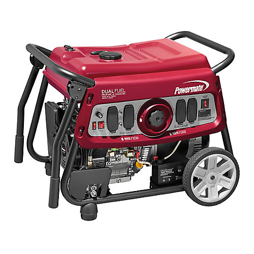 7500W Dual Fuel Portable Generator with Electric Start