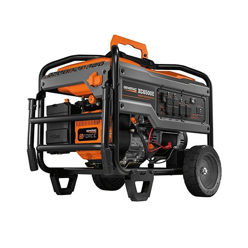 XC 6500W Electric Start Gasoline Powered Portable Generator