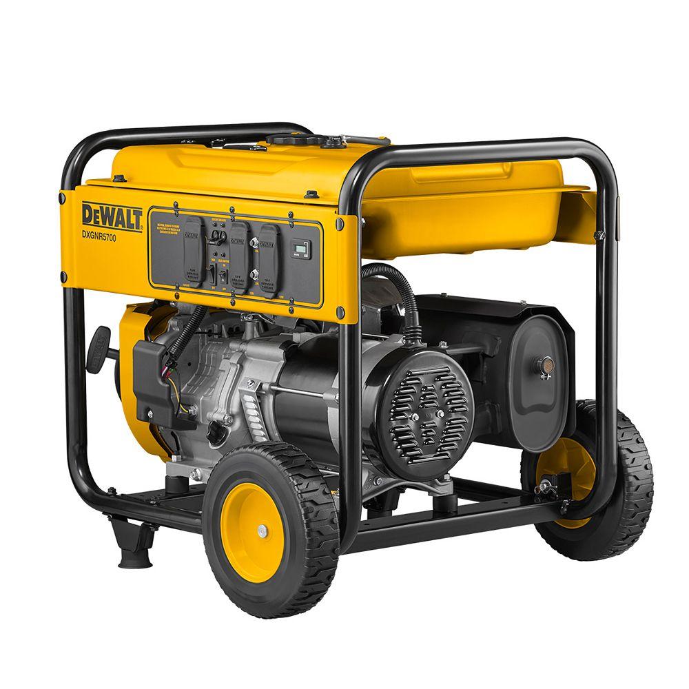 DEWALT Générateur portable alimenté au gaz, 5 700 Watts