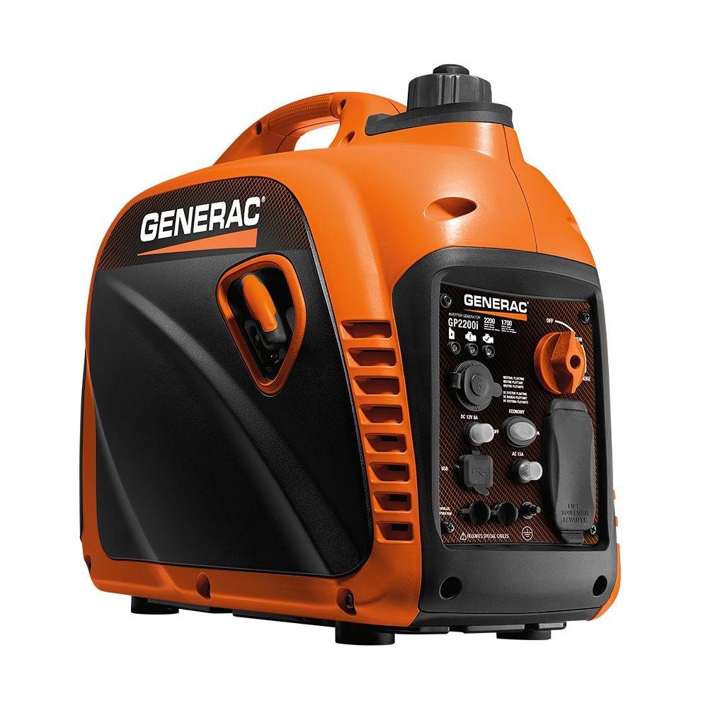 Generac 2200W Portable Gasoline Powered Invertor Generator