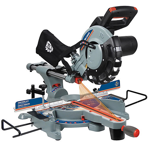10 Inch Sliding Compound Miter Saw with Dual Laser
