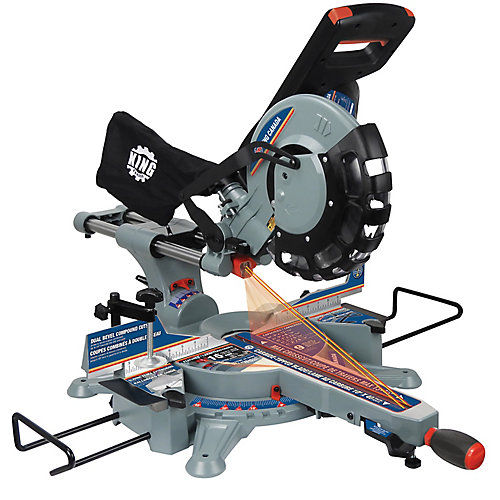 10 Inch Sliding Dual Compound Miter Saw with Twin Laser