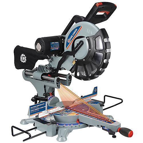 12-inch Sliding Dual Compound Miter Saw with Twin Laser Guide