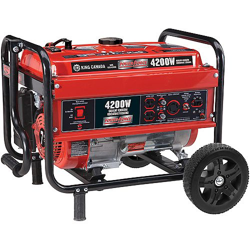 Gasoline Generator With Wheel Kit 4200 Watt