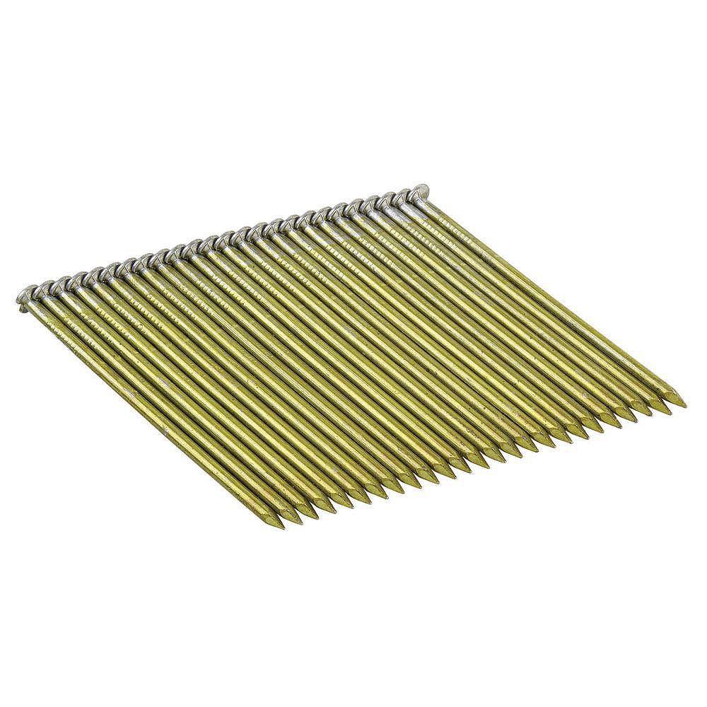 DEWALT 2-1/2-inch x 0.120-Gauge Wire-Weld Galvanized Ring Shank Framing Nails (2,000 per Box)
