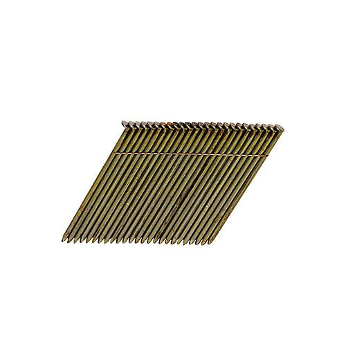 3-1/2-inch x 0.131 Wire Collated Smooth Shank Framing Nails (2,000 per Box)