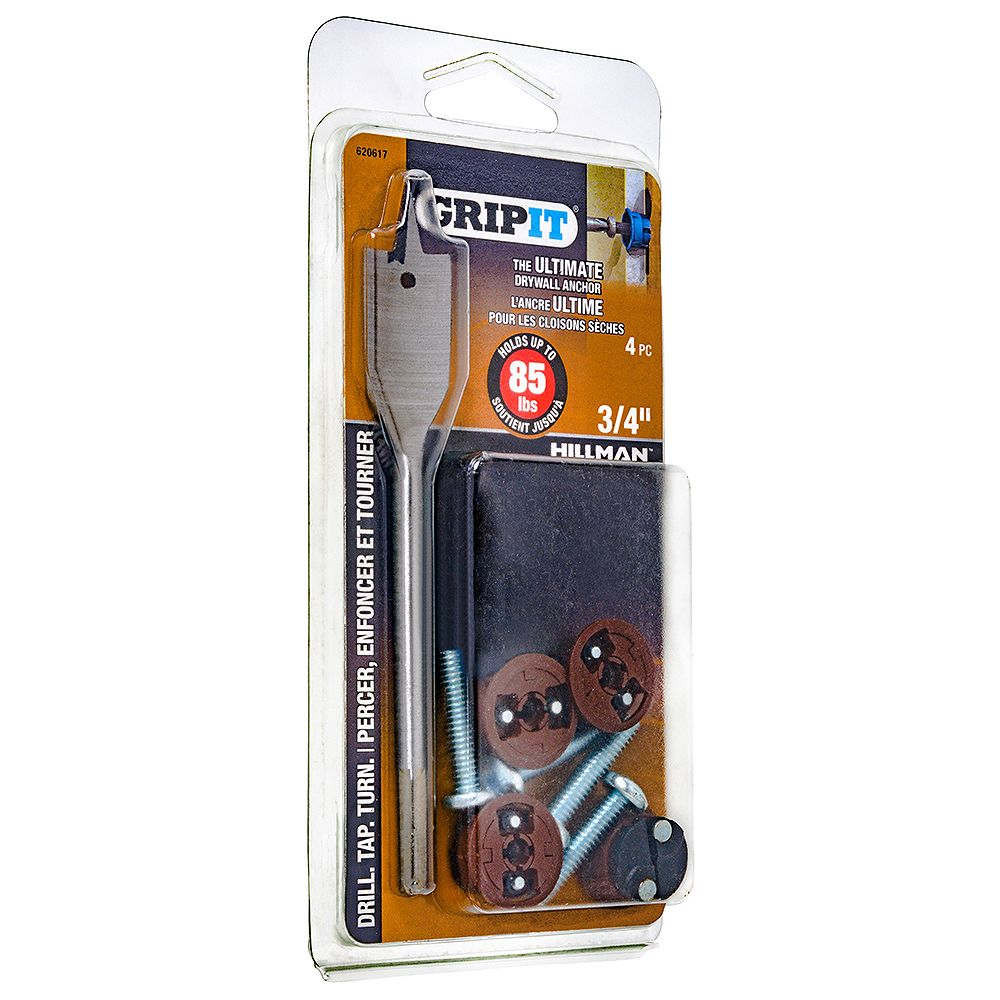 Grip It 85-lb Hold Grip-It Drywall Anchor in Brown - 4pcs