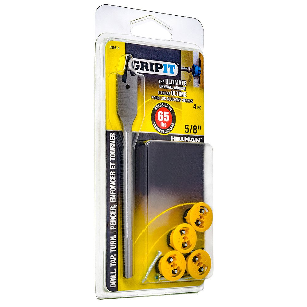 Grip It 65-lb Hold Grip-It Drywall Anchor in Yellow - 4pcs