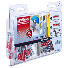 #6-10 & #8-12 DuoPower(TM) Contractor Strength Anchor Kit - 60pcs