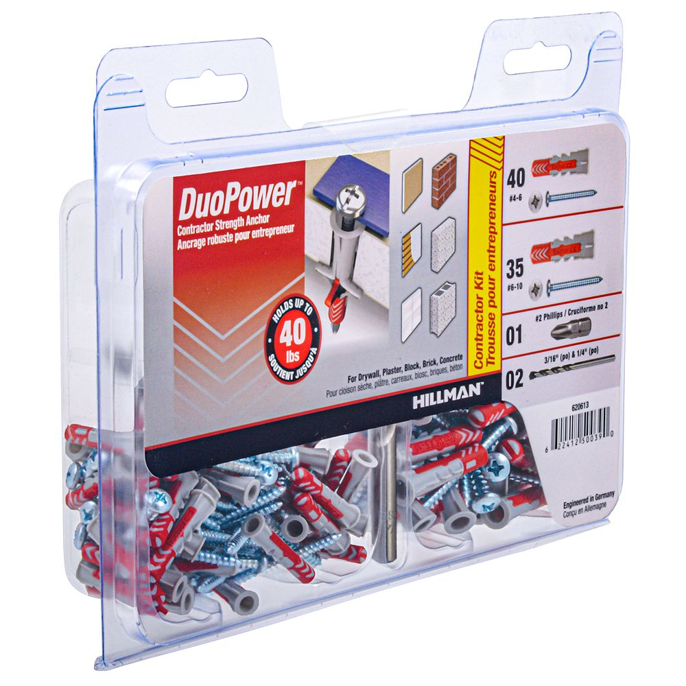 DuoPower #6-8 & #8-10 Contractor Strength Anchor Kit - 75pcs