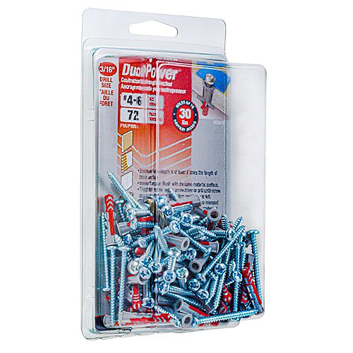 DuoPower #4-6 DuoPower(TM) Contractor Strength Anchor - 72pcs