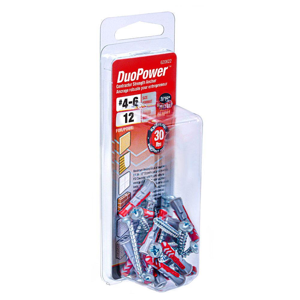 DuoPower #4-6 DuoPower(TM) Contractor Strength Anchor - 12pcs