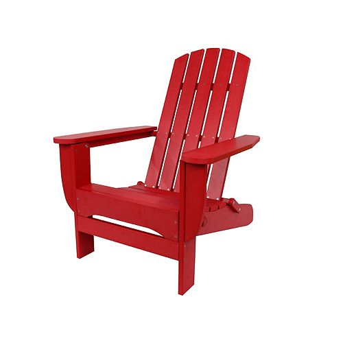 Hampton Bay Foldable Adirondack Chair Red Finish
