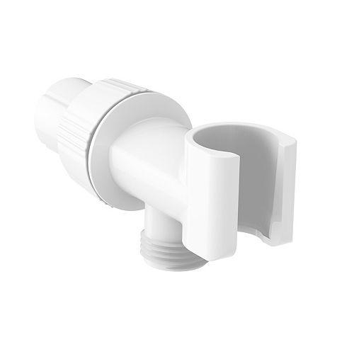 Support de bras de douche, blanc