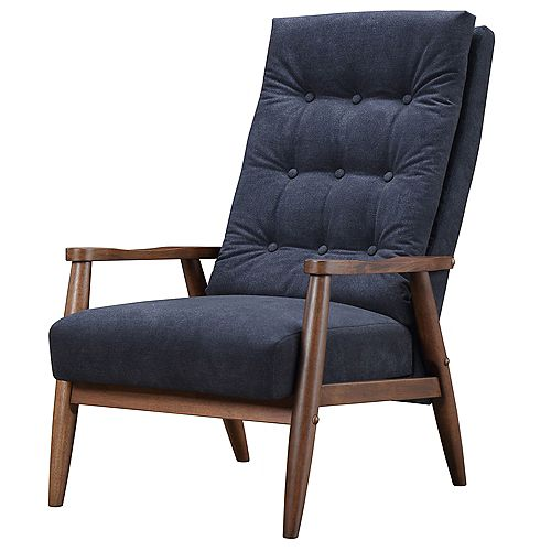 Mack Occasional Polyester/Polyester Blend Accent Chair in Grey with Solid Pattern
