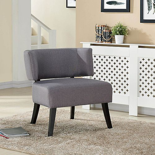 Nassau Occasional Polyester/Polyester Blend Accent Chair in Grey with Solid Pattern