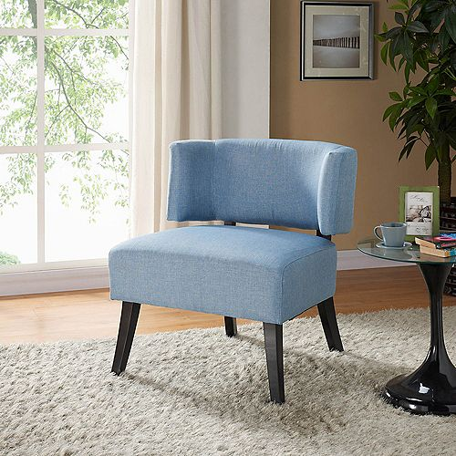 Nassau Occasional Polyester/Polyester Blend Accent Chair in Blue with Solid Pattern