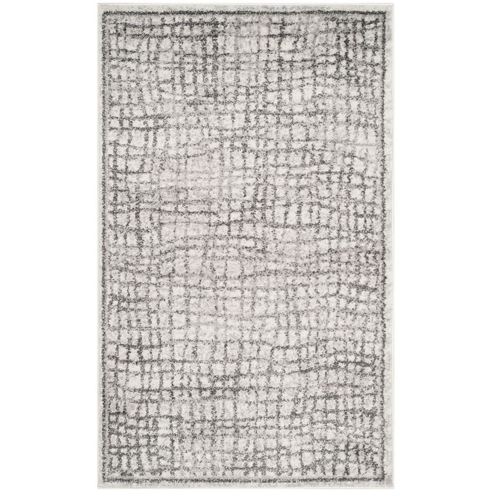 Safavieh Adirondack Taylor Silver / Ivory 3 ft. x 5 ft. Indoor Area Rug