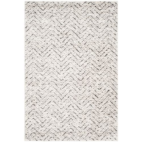 Adirondack Kevin Ivory / Charcoal 4 ft. x 6 ft. Indoor Area Rug