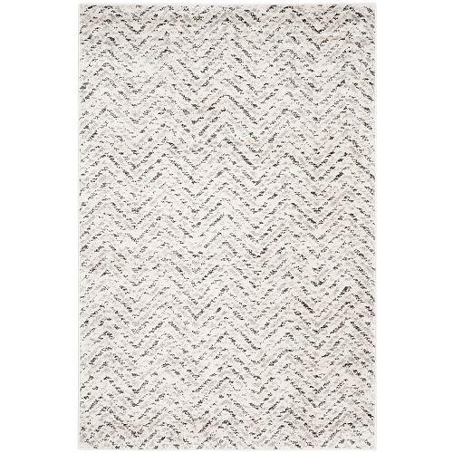 Carpette d'intérieur, 4 pi x 6 pi, style contemporain, rectangulaire, blanc cassé Adirondack