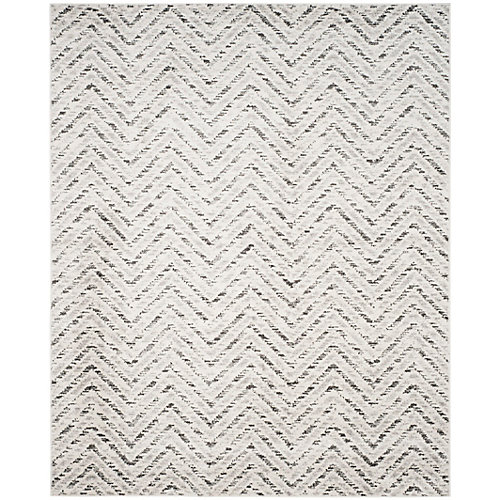 Adirondack Kevin Ivory / Charcoal 8 ft. x 10 ft. Indoor Area Rug