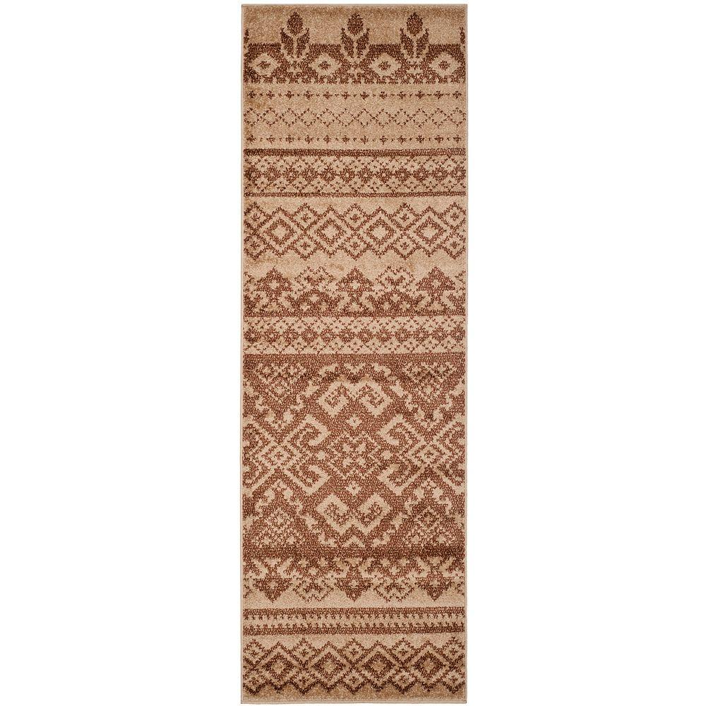 Safavieh Adirondack Karina Camel / Chocolate 2 ft. 6 inch x 6 ft. Indoor Runner