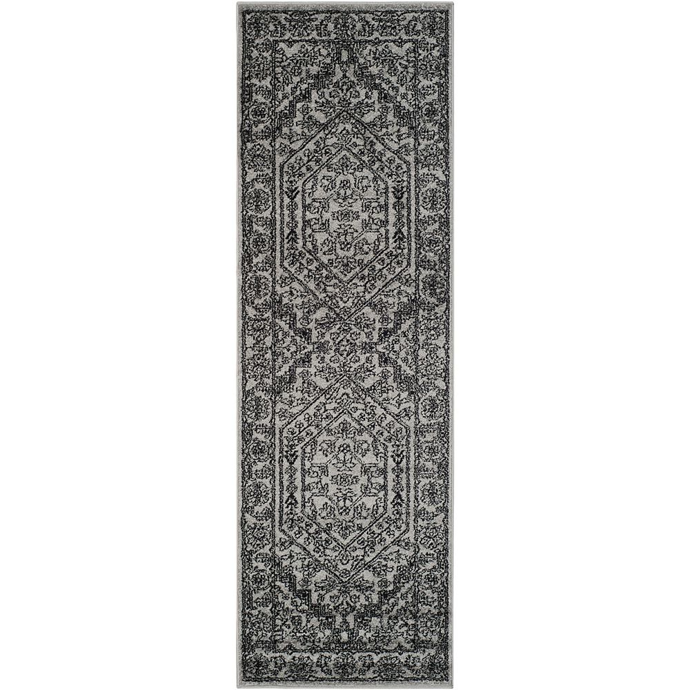 Safavieh Adirondack Winston Silver / Black 2 ft. 6 inch x 14 ft. Indoor Runner