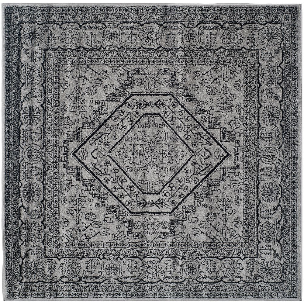 Safavieh Adirondack Winston Silver / Black 4 ft. x 4 ft. Indoor Square Area Rug