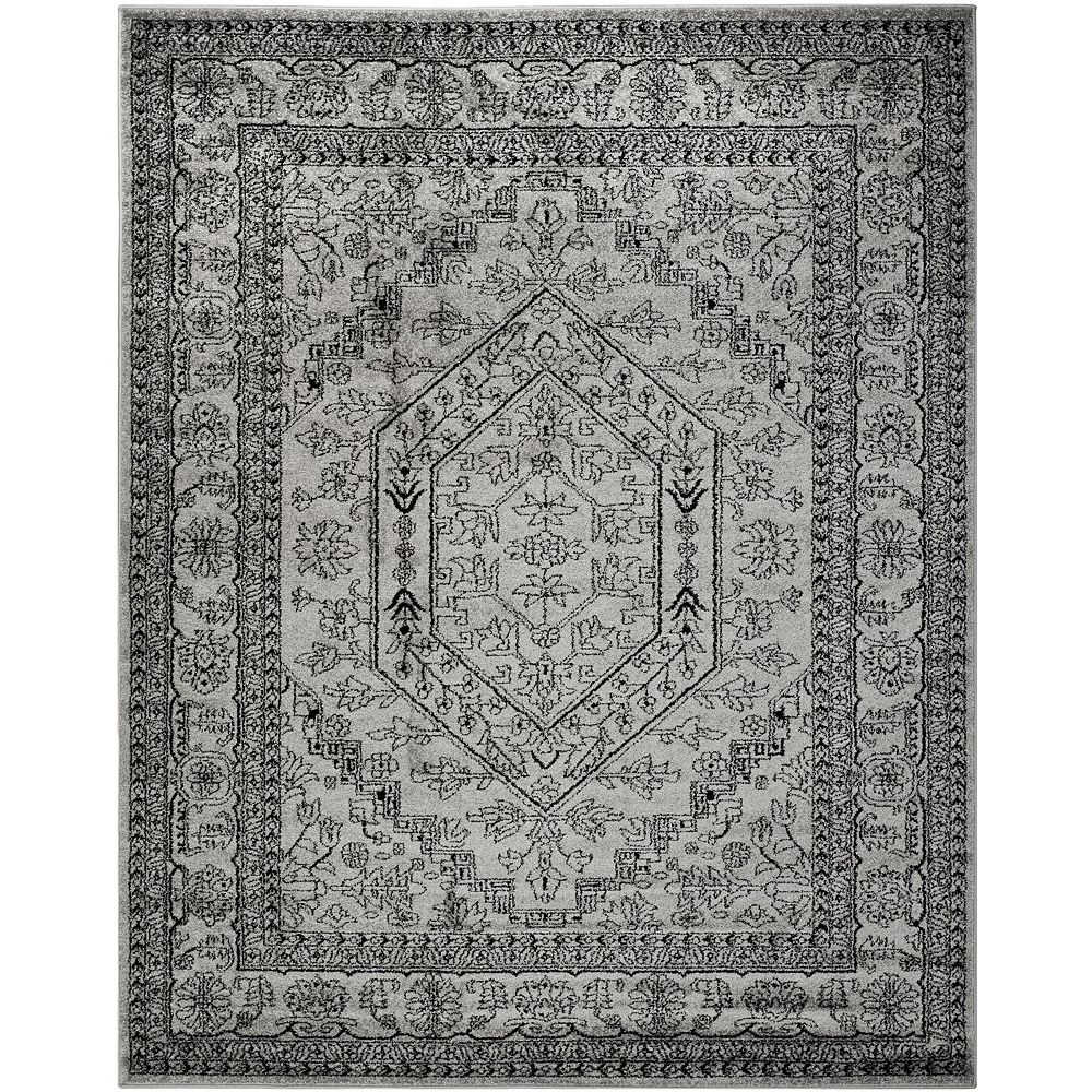 Safavieh Adirondack Winston Silver / Black 8 ft. x 10 ft. Indoor Area Rug