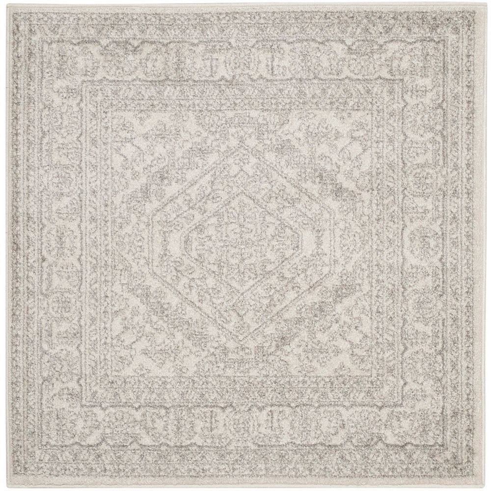 Safavieh Adirondack Winston Ivory / Silver 4 ft. x 4 ft. Indoor Square Area Rug