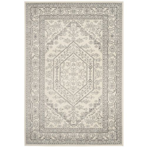 Safavieh Adirondack Winston Ivory / Silver 5 ft. 1 inch x 7 ft. 6 inch Indoor Area Rug