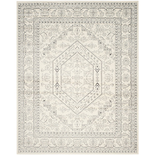 Adirondack Winston Ivory / Silver 8 ft. x 10 ft. Indoor Area Rug
